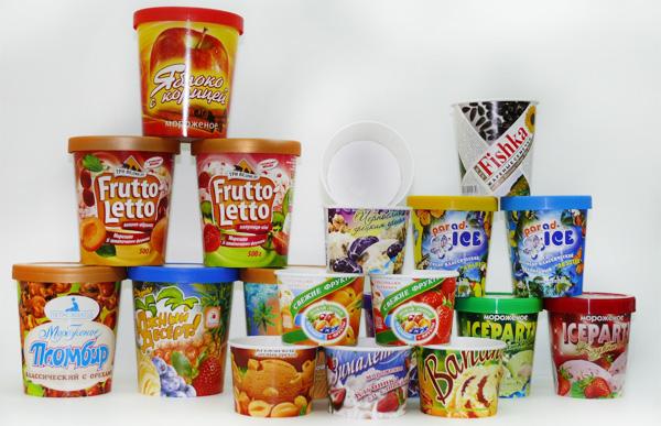 Упаковка для мороженого, купить креманки для мороженого